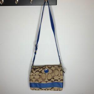 COACH signature stripe file handbag